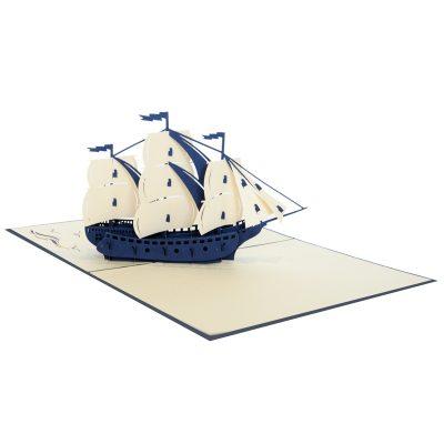 Sailing ship pop up card-pop up card manufacture (4)