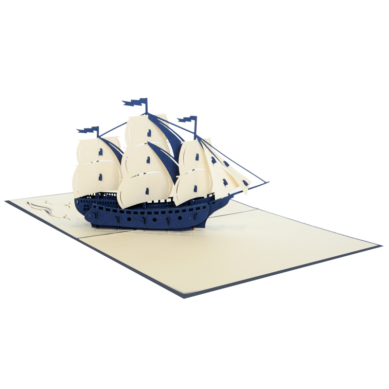 Sailing ship pop up card-pop up card manufacture (4)