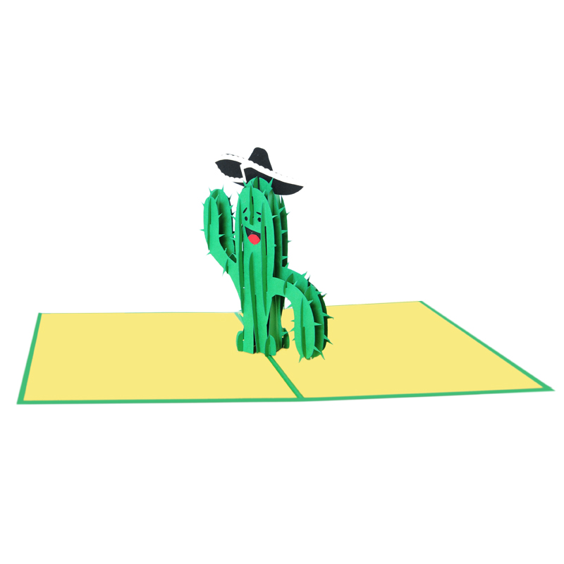 cactus pop up card wholesale pop up card company (3)