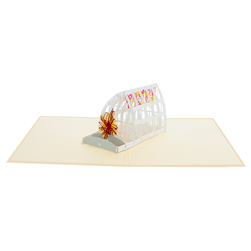 green house pop up card-pop up cards supplier- pop up cads wholesale. (3)