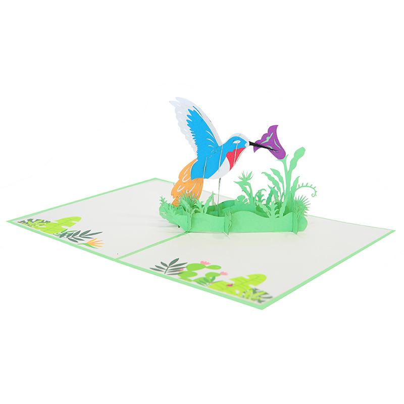 humming bird pop up cards-pop up card manufacture-pop up cards vietnam (1)