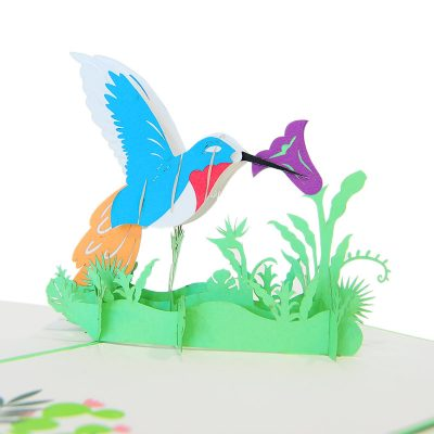 humming bird pop up cards-pop up card manufacture-pop up cards vietnam (3)