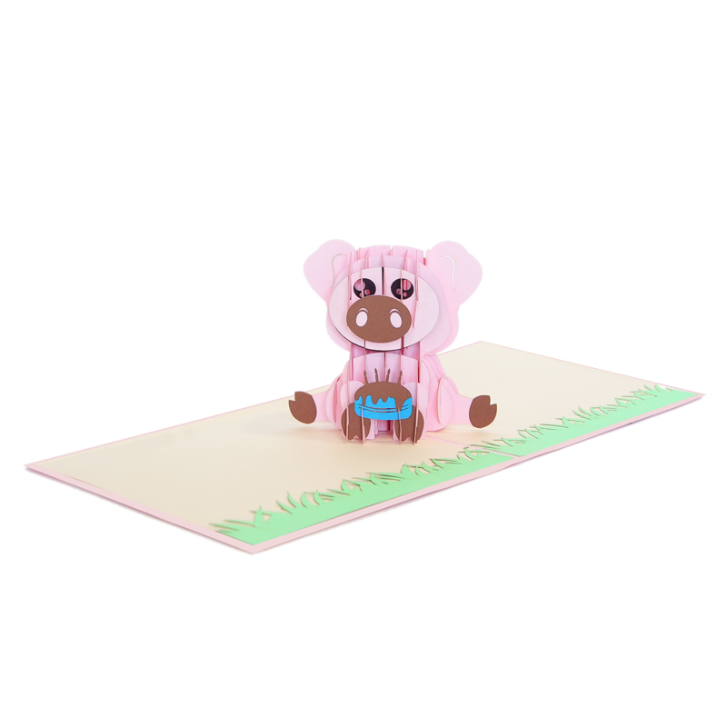 pig pop up cards-pop up cards wholesale-pop up cards supplier (3)
