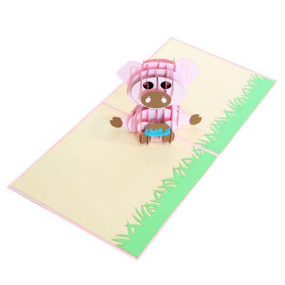 pig pop up cards-pop up cards wholesale-pop up cards supplier (4)