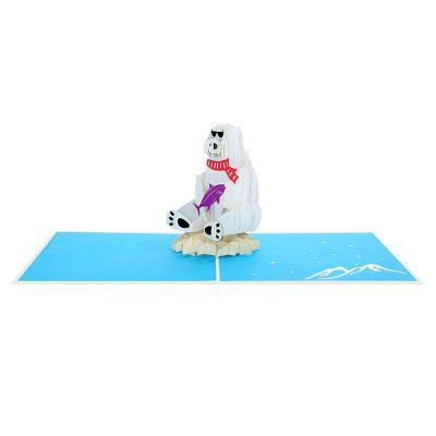 polar bear pop up cards-pop up card manufacture-pop up cards supplier (1)