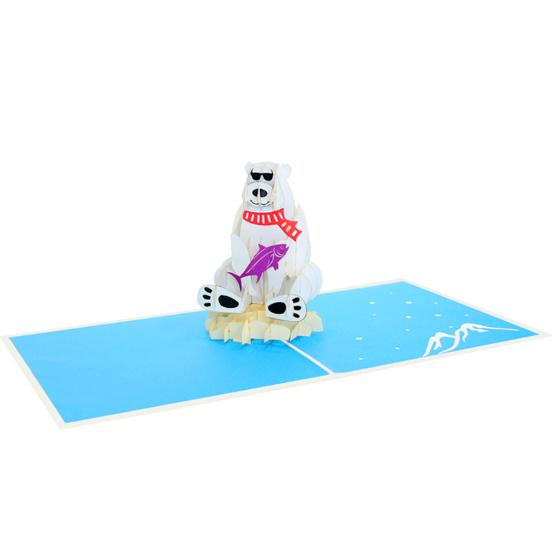 polar bear pop up cards-pop up card manufacture-pop up cards supplier (4)