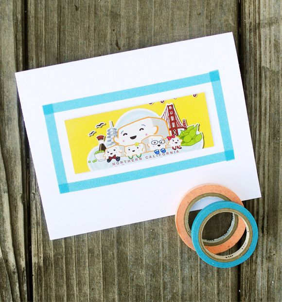 Tape frame cards diy tutorial pop up card wholesale charmpop and these washi tape frame cards are perfect for just that theyre quick to make and easy to alter for different celebrations m4hsunfo
