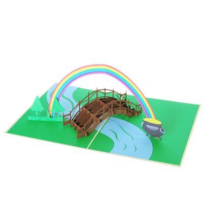 rainbow gold pot pop up card wholesale pop up card vietnam (1)