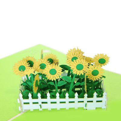 sunflower pop up card- pop up card wholesale- pop card manufacture-charmpop (1)