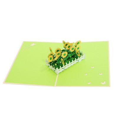 sunflower pop up card- pop up card wholesale- pop card manufacture-charmpop (2)