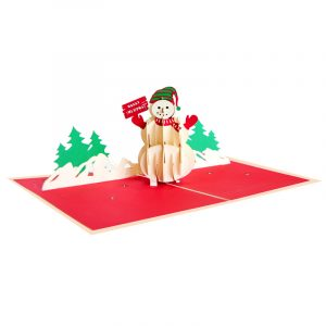 Christmas Snowman Pop Up Card-2018 christmas pop up card supplier vietnam (3)