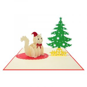 Christmas cat pop up cards-Christmas pop up card supplier-pop up cards manufacturer (3)