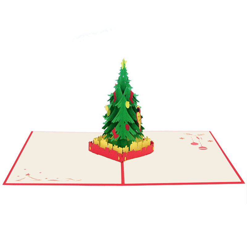 Christmas tree pop up cards 2018-pop up cards manufacturer-pop up cards supplier (1)