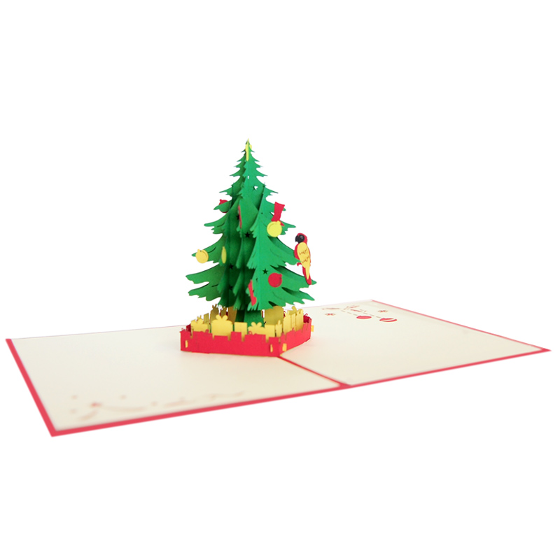 Christmas Tree Pop Up Card Christmas 3d Card Supplier Vietnam