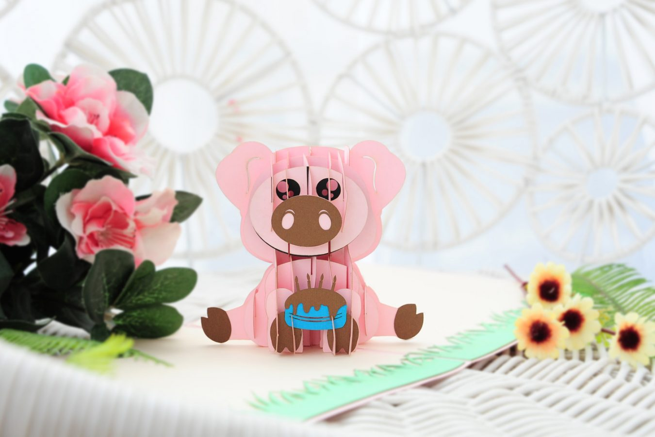 pop up cards manufacturer - pig pop up cards
