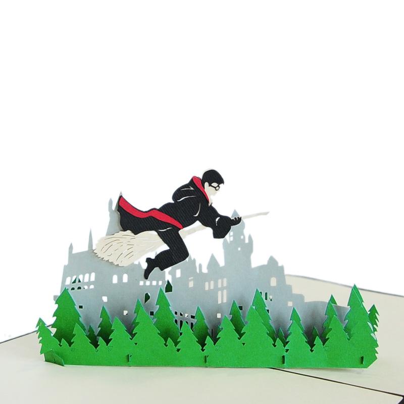 Harry potter pop up cards-Christmas pop up cards manufacturer-custom ...