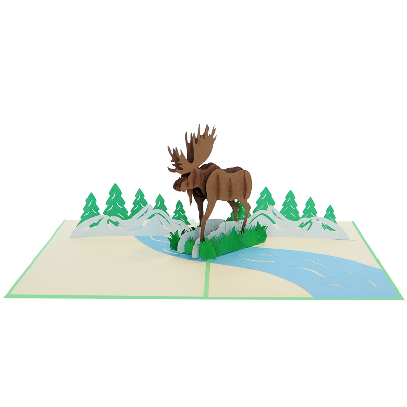 Moose pop up cards-pop up cards manufacturer-design pop up cards ma (3)