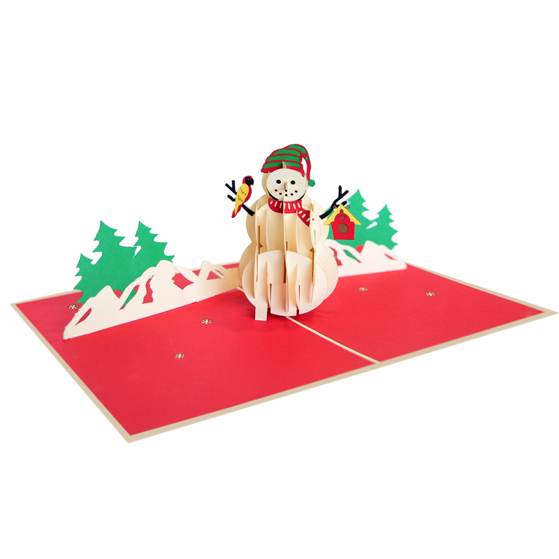 Snowman pop up cards-pop up cards Christmas 2018- pop up cards wholesaler (4)