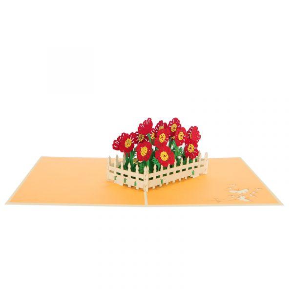 FL059-Poppy flower garden pop up card-poppy flower greeting cards wholesale-CharmPop (2)