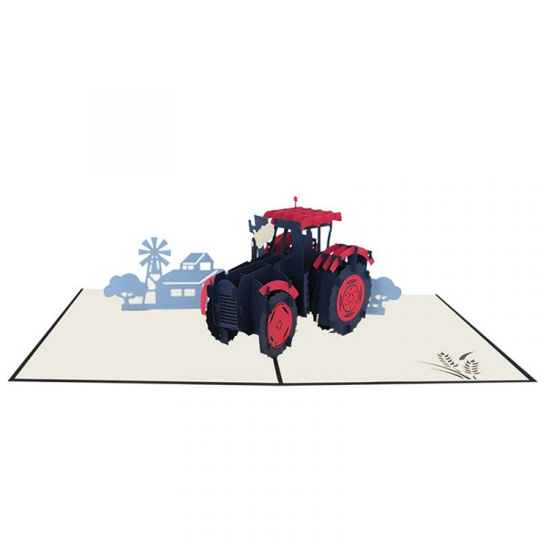 FS117-Tractor pop up card-pop up cards supplier-pop up cards vietnam-CharmPop (2)