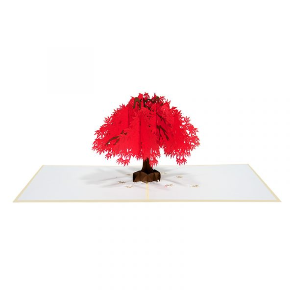 Red maple tree pop up card-floral pop up cards wholesale-pop up cards manufacturer-CharmPop (4)