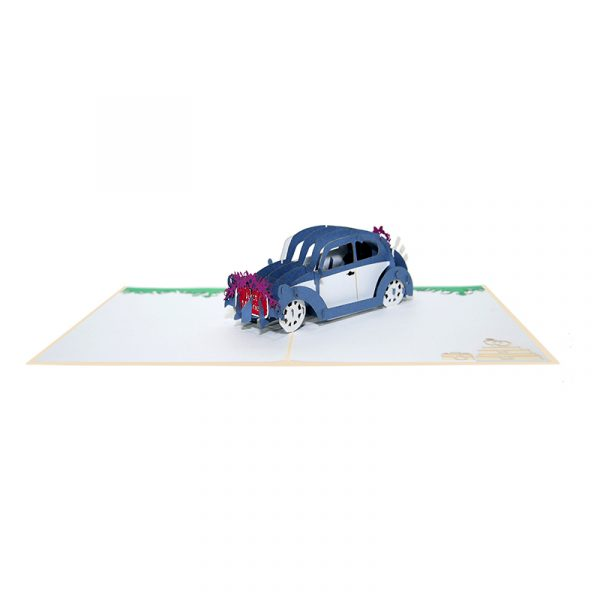WD045-wedding car pop up card-pop up wedding invitation-CharmPop (3)
