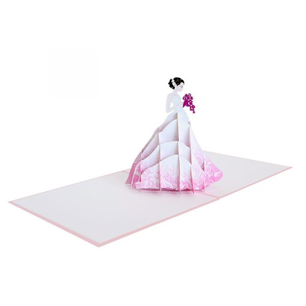 WD047-wedding bride pop up card-pop up wedding invitation-CharmPop (3)