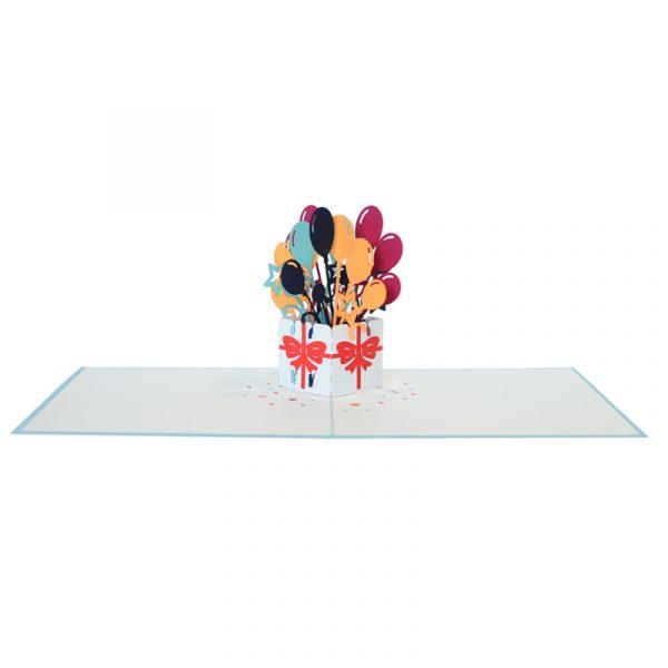 Balloon-gift-box-pop-up-card-Birthday-3D-handmade-card-wholesale-CharmPop Cards (2)