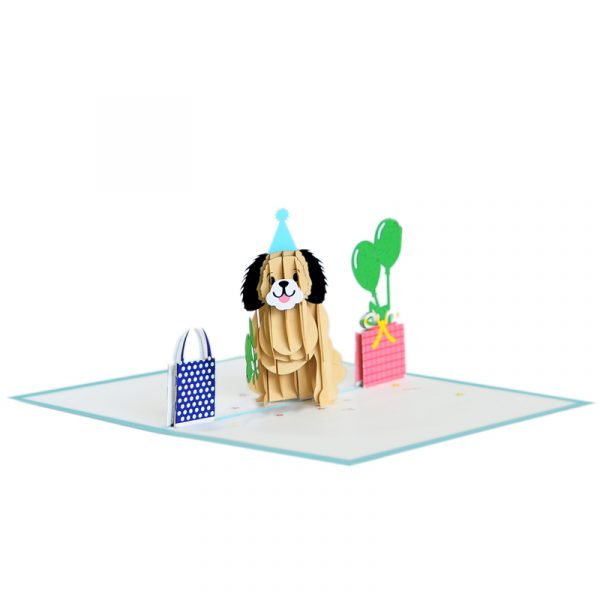 Birthday-puppy-pop-up-card-Animal-3D-card-Birthday-3D-handmade-card-CharmPop Cards (4)