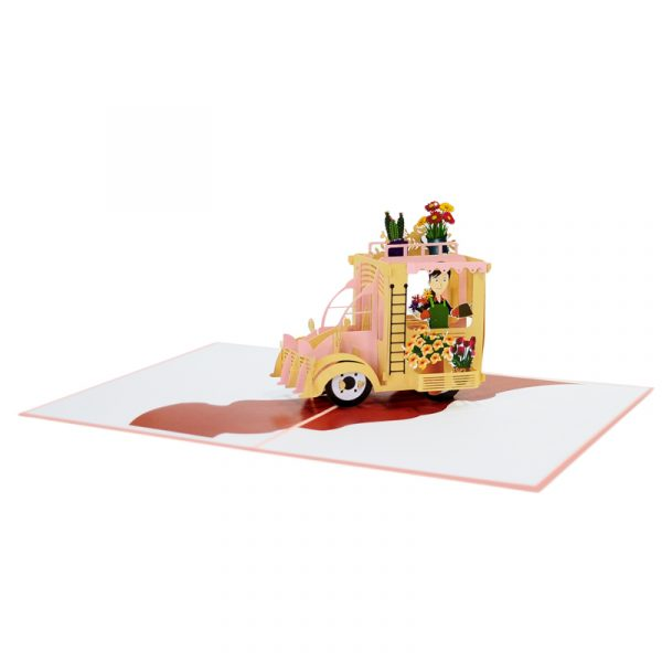 Flower-cart-pop-up-card-Floral-greeting-cards-manufacturer-CharmPop Cards (3)