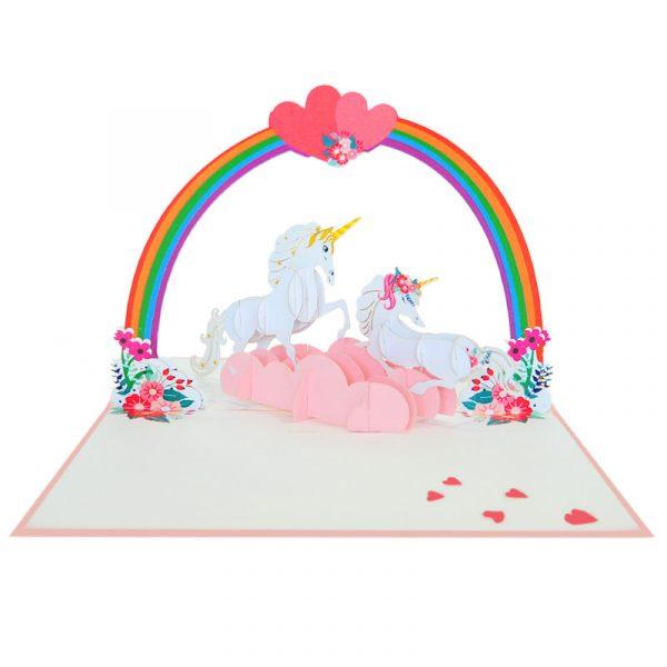 Love-unicorn-couple-pop-up-card-Valentine-3D-handmade-card-supplier-CharmPop Cards (4)