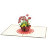 Pansy pot pop up cards-3d cards supplier-overview