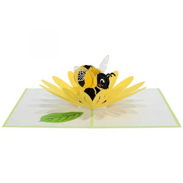 Sunflower-bee-pop-up-card-3D-greeting-card-supplier-CharmPop Cards (3)