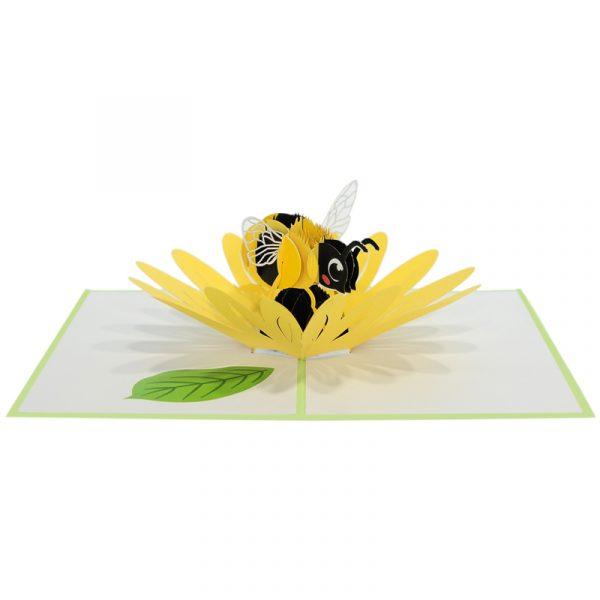 Sunflower-bee-pop-up-card-3D-greeting-card-supplier-CharmPop Cards (3)