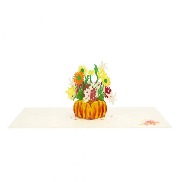 pumpkin flower pop up card-3d cards manufacturer-overview