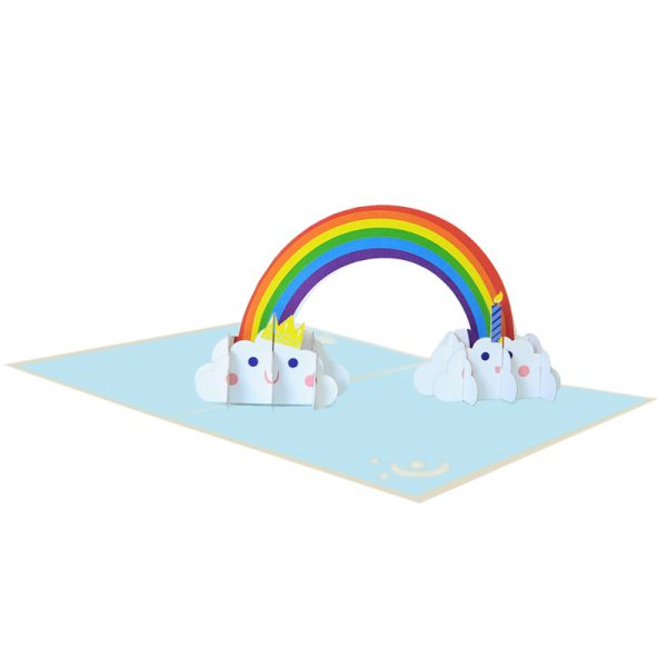 Rainbow-birthday-pop-up-card-Birthday-kirigami-card-supplier-CharmPop Cards (4)