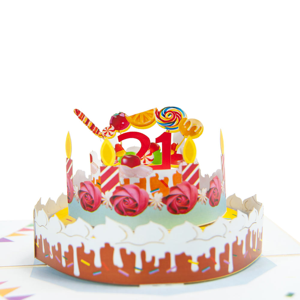 Birthday Cake Age Pop Up Card Cards With Number