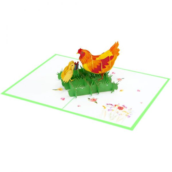 Chicken mother-pop-up-cards-3d-cards-supplier-overview