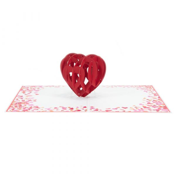 Heart pop up cards- 3d cards wholesales-overview
