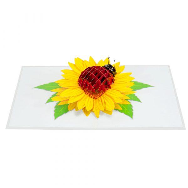 Sunflower-ladybug-pop-up-cards-3d-cards-wholesales-overview