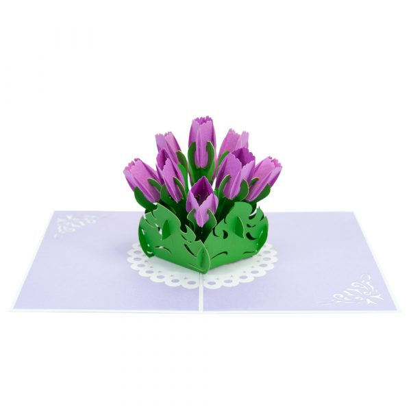 Tulips pop up cards-3d cards manufacturer-overview