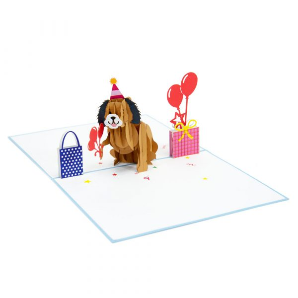 birthday puppy pop up cards-3d cards supplier-overview