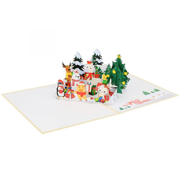 arctic christmas animals-pop-up-cards-3d-cards-wholesales-side