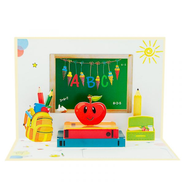 first-day-of-school-pop-up-cards-3d-cards-manufacturer-90-front