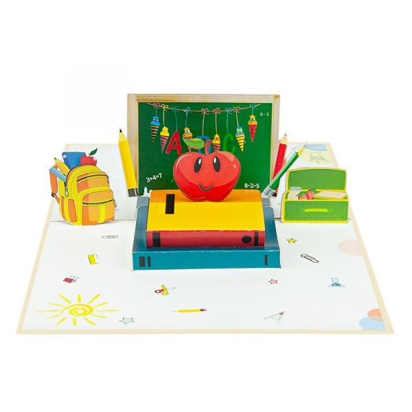 first-day-of-school-pop-up-cards-3d-cards-wholesales-180-front