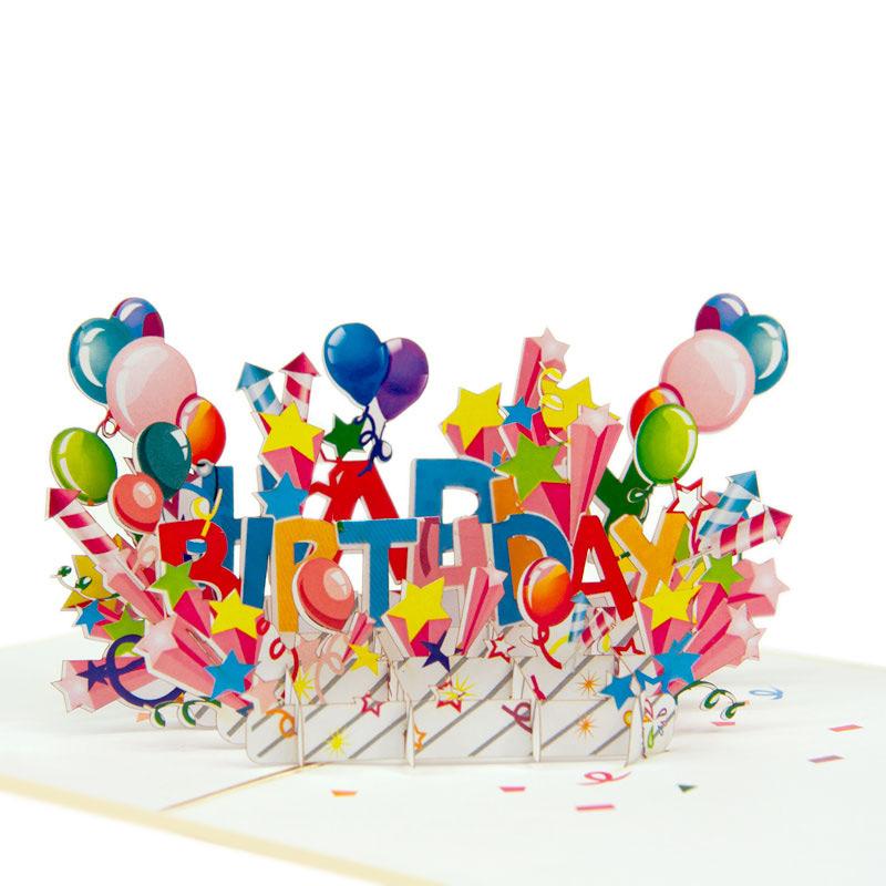 Happy Birthday Cake Pop Up Cardd- Birthday Cake Pop Up Cards