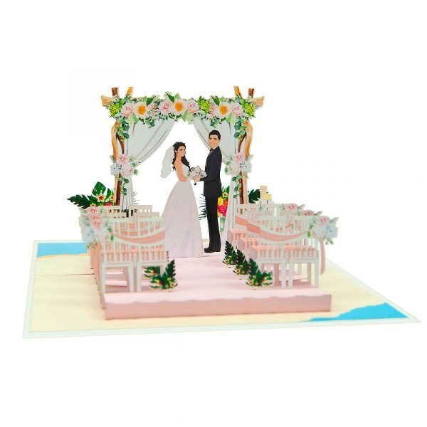 weding-beach-pop-up-cards-3d-cards-wholesale-front