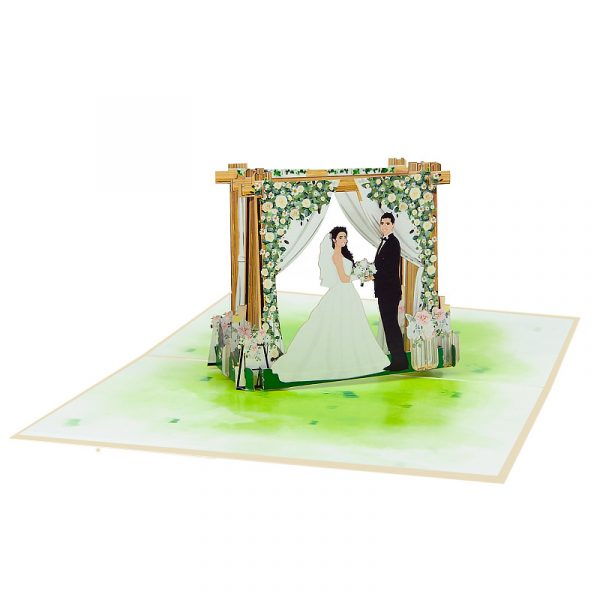 weeding-arch-pop-up-cards-3d-cards-whosaler-side