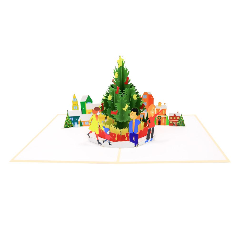 selfie christmas tree pop up card christmas 3d card