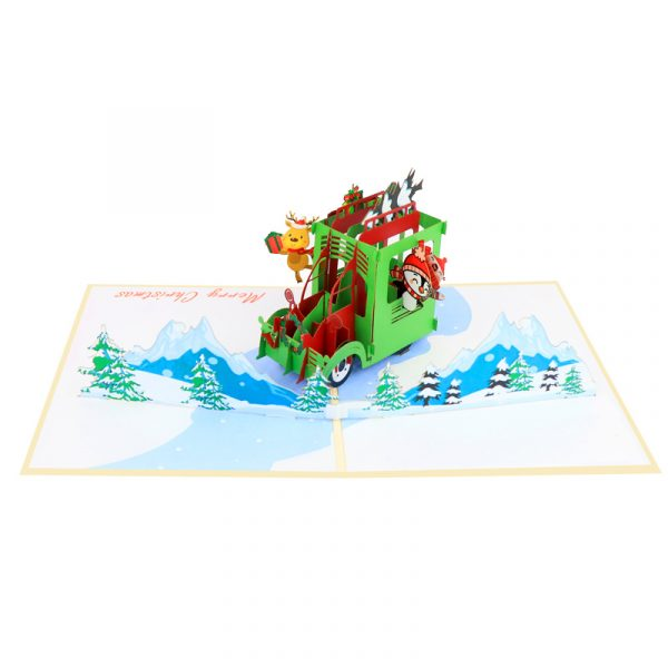 christmas car-pop-up-cards-3d-cards-wholesales-side